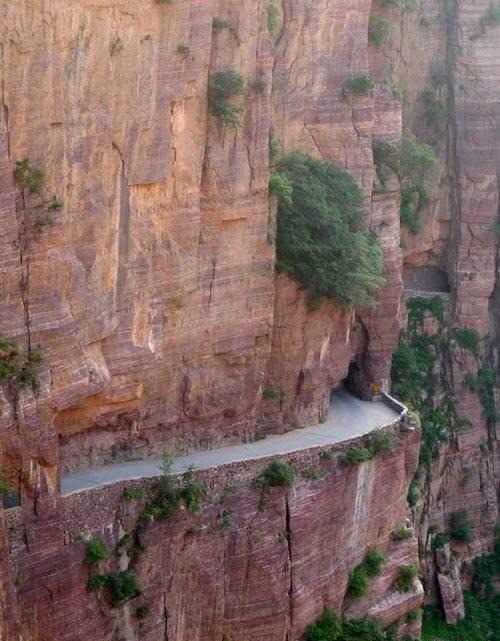 Ovo je ručno isklesan put…