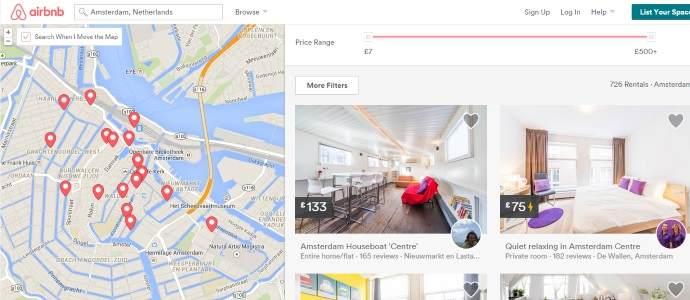 Airbnb izgubio bitku protiv Amsterdama – od februara nove takse