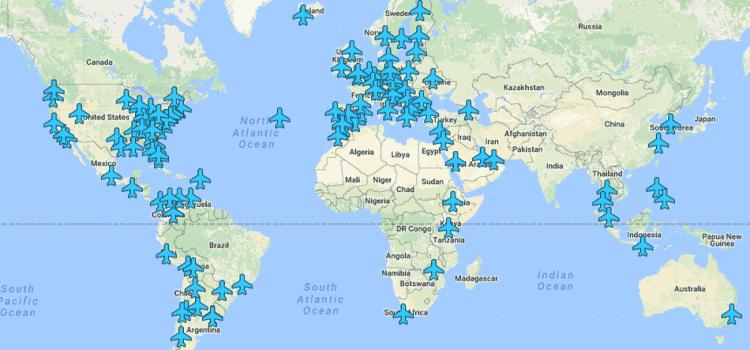 Pronađite Wi-Fi lozinke aerodroma širom sveta na sjajnoj interaktivnoj mapi!