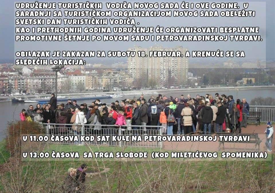 Povodom Svetskog dana vodiča, za 18. februar najavljeni besplatni obilasci Novog Sada
