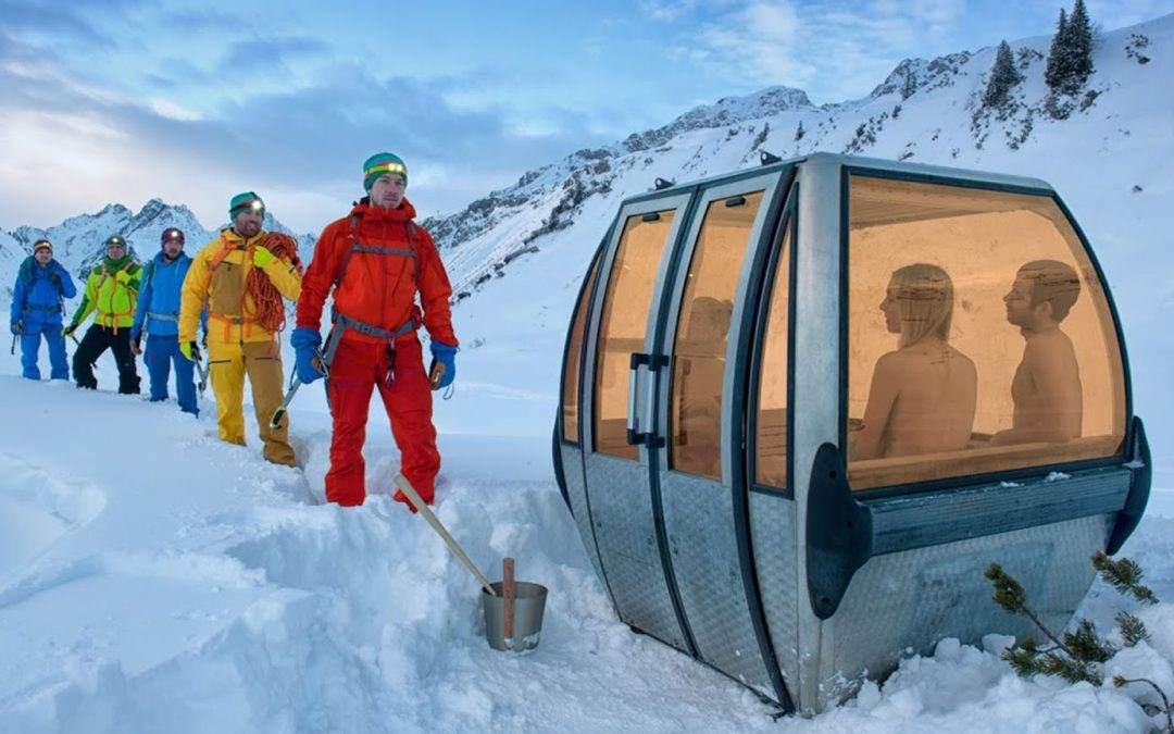 Stare gondole sa švajcarskih Alpa postale su ultra-moderne saune!