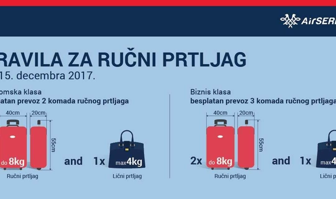 Air Serbia – podsećamo za pravila u vezi sa ručnim prtljagom